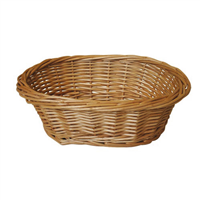 OVAL STEAMED WILLOW BASKET -23x18xH8 CM