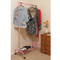 Adjustable Pink Garment Rack