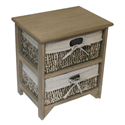2 MAIZE DRAWER EARTH WOOD UNIT