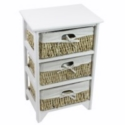 3 MAIZE DRAWER WHITE WOOD UNIT
