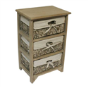 3 MAIZE DRAWER EARTH WOOD UNIT