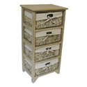4 MAIZE DRAWER EARTH WOOD UNIT