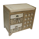 2 MAIZE DRAWER EARTH CABINET SEATED UNIT