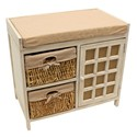 2 MAIZE DRAWER NATURAL CABINET SEATED UNIT