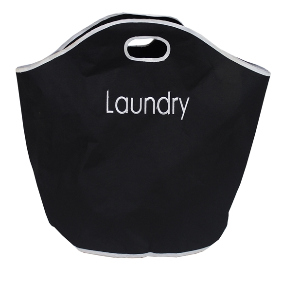 Picture of Black Fabric Laundry Bag