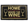 Picture of Where the Wine Is PVC Coir Doormat 40x70cm