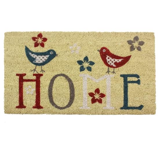 Picture of Home Birds  PVC Coir Doormat 40x70cm