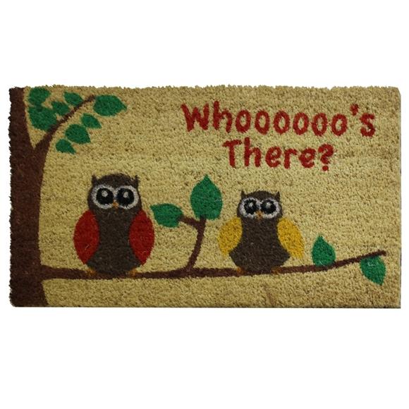 Picture of Owls PVC Coir Doormat 40x70cm