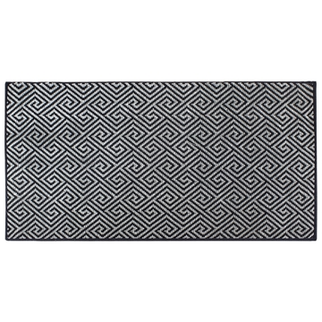 Picture of Dax Black Pattern Rug 90x150cm