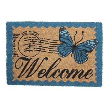 Picture of Butterfly Vintage Latex Coir Doormat 40x60cm