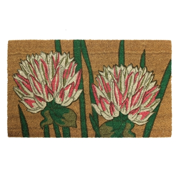 Picture of Chrysanthemum Latex Coir Doormat 45x75cm