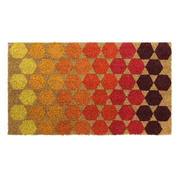 Picture of Hexagon Latex Coir Doormat 40x70cm