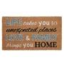 Picture of Typography Latex Coir Doormat 40x70cm