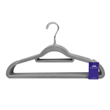 Picture of 10PK Small Soft Touch Clothing Hangers - Grey