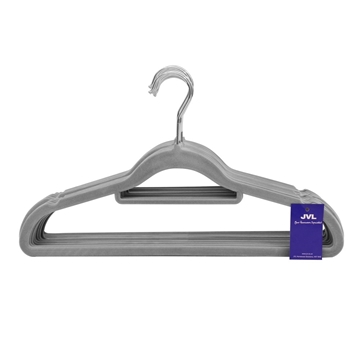 Picture of 20PK Small Soft Touch Clothing Hangers - Grey