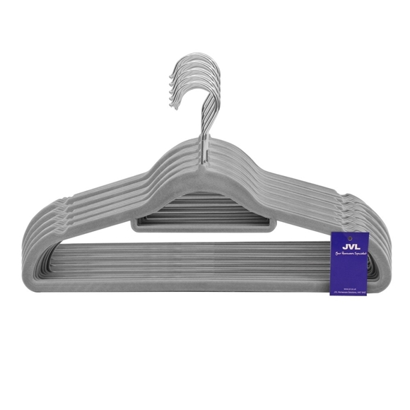 Picture of 50PK Small Soft Touch Clothing Hangers - Grey