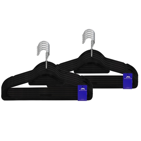 Picture of 100PK Small Soft Touch Clothing Hangers - Black
