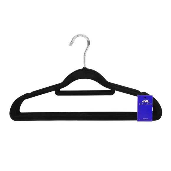 Picture of 10PK Small Soft Touch Clothing Hangers - Black