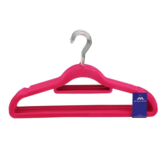 Picture of 20PK Small Soft Touch Clothing Hangers - Pink