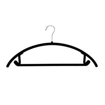 Picture of 20PK Soft Touch Non-Slip Suit Hangers - Black