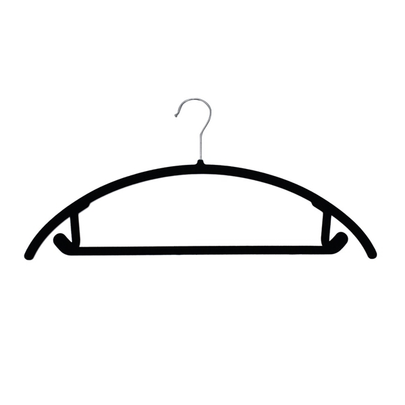 Picture of 20PK Soft Touch Non-Slip Suit Hangers - Black