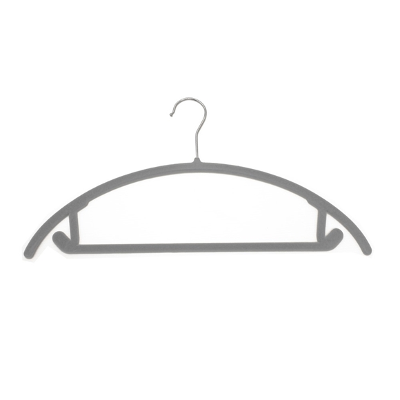 Picture of 20PK Soft Touch Non-Slip Suit Hangers - Grey