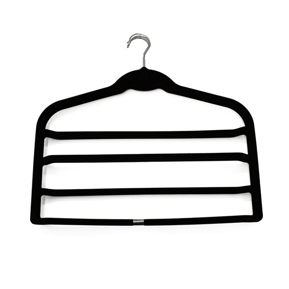 Picture of 4PK Soft Touch Non-Slip Trouser Hangers - Black