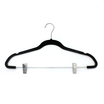 Picture of 10PK Small Soft Touch Hangers - Chrome Clips