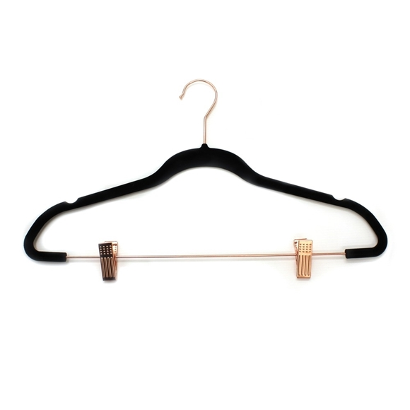 Picture of 10PK Small Soft Touch  Hangers - Rose Gold Clips