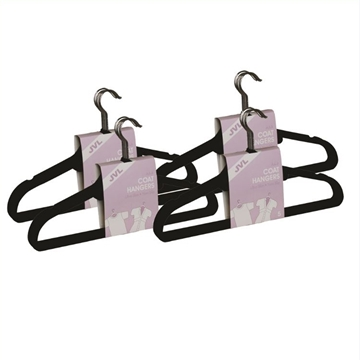 Picture of 20PK Large Soft Touch Clothing Hangers - Black