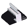 Picture of 50PK Large Soft Touch Clothing Hangers - Black