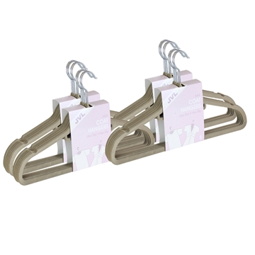 Picture of 20PK Large Soft Touch Clothing Hangers - Beige