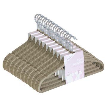 Picture of 50PK Large Soft Touch Clothing Hangers - Beige