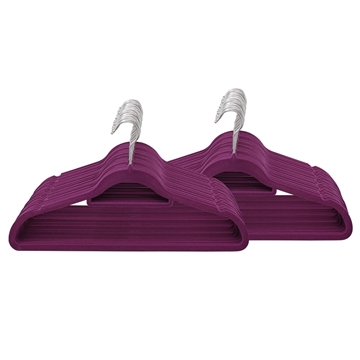Picture of 100PK Large Soft Touch Clothing Hangers - Purple