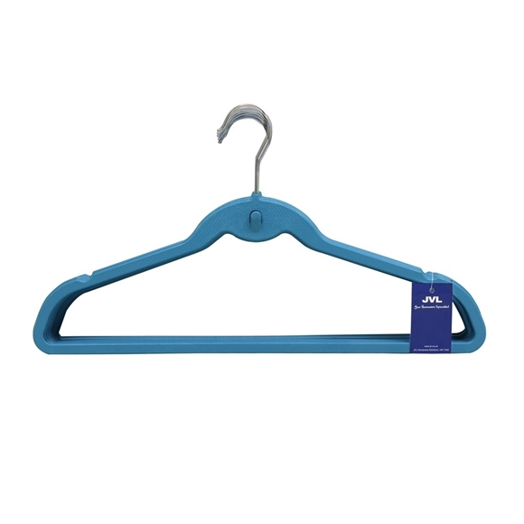 Picture of 20PK Plastic Clothing Hangers - Blue