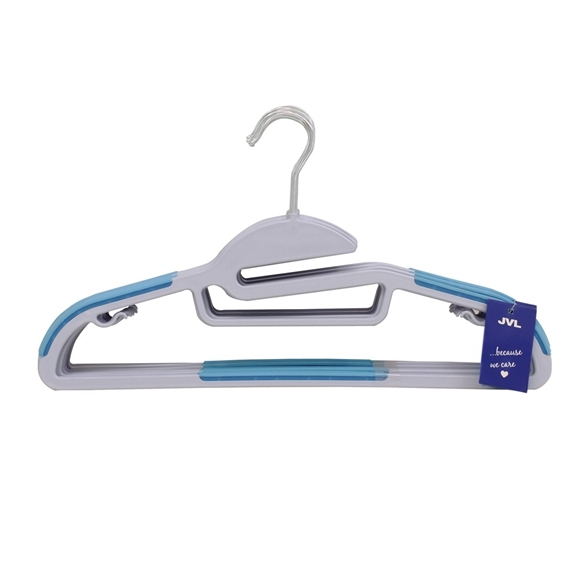 Picture of 20PK S-Shaped Plastic Clothing Hangers - Blue