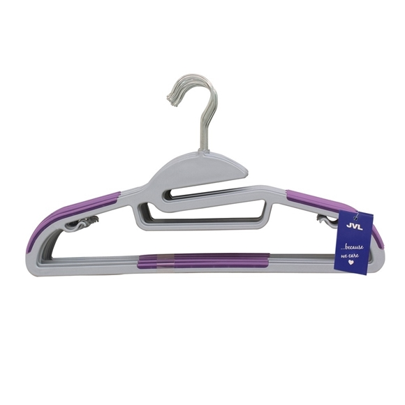 Picture of 20PK S-Shaped Plastic Clothing Hangers - Purple