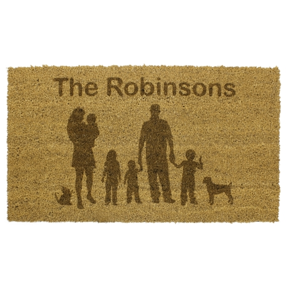 Picture of Personalised Laser Coir - Silhouette Family 40x60cm