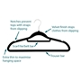 Picture of 100PK Large Soft Touch Clothing Hangers - Black