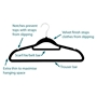 Picture of 30PK Large Soft Touch Clothing Hangers - Black