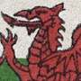 Picture of Welsh Flag Latex Coir Doormat 40x70cm