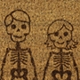 Picture of Personalised Halloween Laser Coir -Skeleton Family 40x60cm