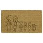 Picture of Personalised Laser Coir - Cartoon Family 40x70cm