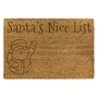 Picture of Personalised Christmas Laser Coir - Nice List 40x60cm