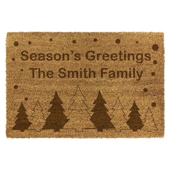 Picture of Personalised Christmas Laser Coir - Trees  40x60cm
