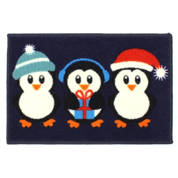 Picture of Christmas Machine Washable Mat  - Penguin 40x60cm