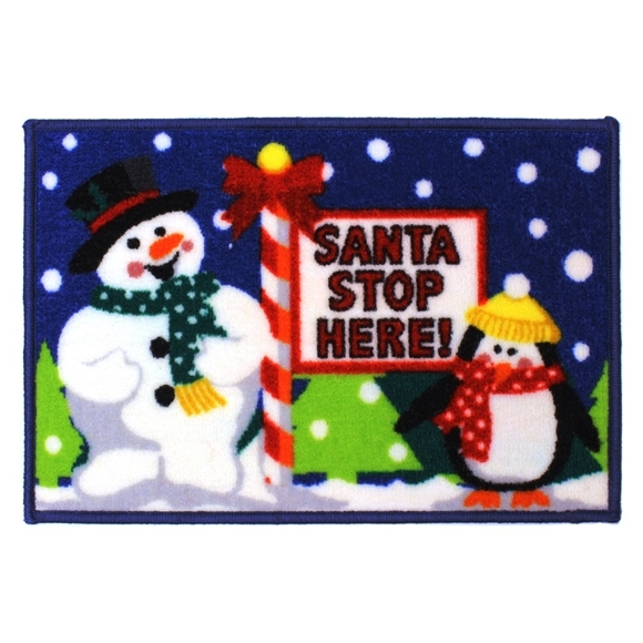 Picture of Christmas Machine Washable Mat -  Santa Stop Here 40x60cm