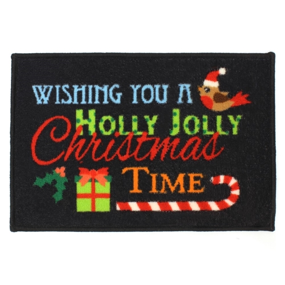 Picture of Christmas Machine Washable Mat -  Holly Jolly 40x60cm