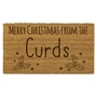 Picture of Personalised Christmas Laser Coir - Holly 40x60cm