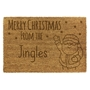 Picture of Personalised Christmas Laser Coir - Santa  40x60cm
